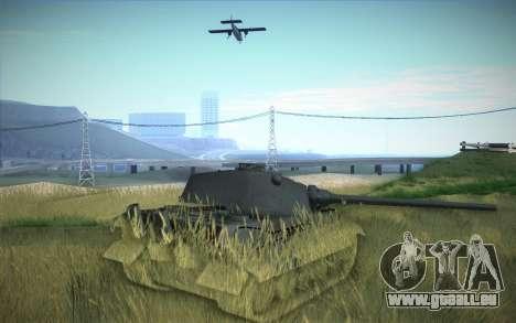 E-75 Tiger III für GTA San Andreas Rückansicht
