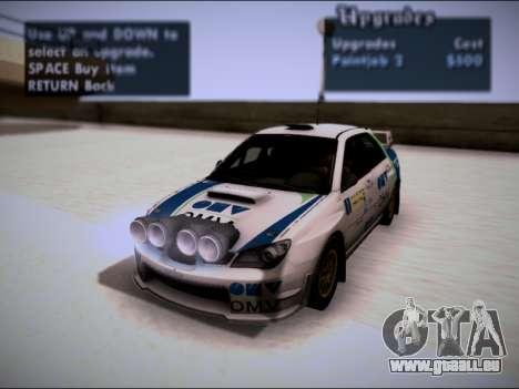 Subaru Impreza WRX STI WRC pour GTA San Andreas vue arrière