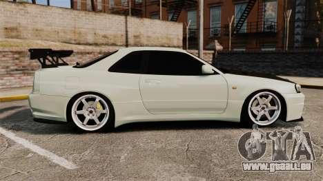 Nissan Skyline GT-R V-Spec II Mk.X [R34] pour GTA 4 est une gauche