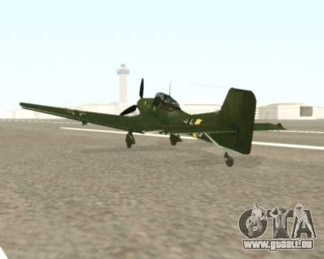 Junkers Ju-87 Stuka pour GTA San Andreas sur la vue arrière gauche