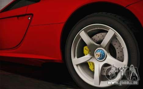 Porsche Carrera GT für GTA San Andreas zurück linke Ansicht