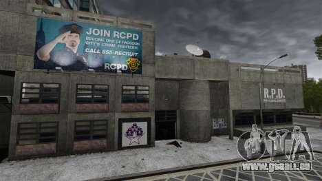 Poste de police, raton laveur pour GTA 4