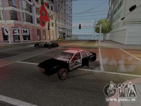 Chevrolet Caprice SFPD 1991 pour GTA San Andreas laissé vue