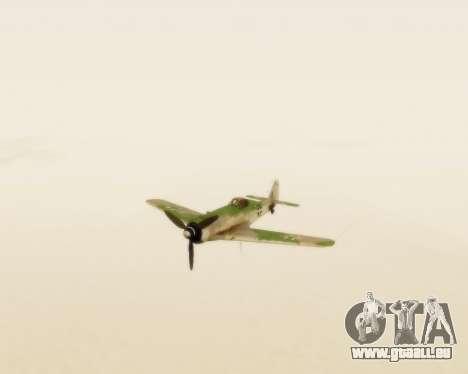 Focke-Wulf FW-190 D12 für GTA San Andreas Rückansicht