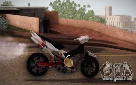 Suzuki 125 Vietnam für GTA San Andreas linke Ansicht