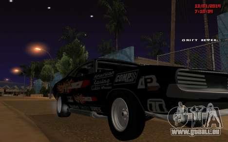 Challenger Missile pour GTA San Andreas sur la vue arrière gauche