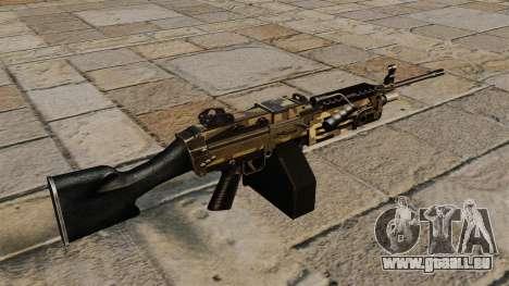 La mitrailleuse légère M249 Camo pour GTA 4 secondes d'écran