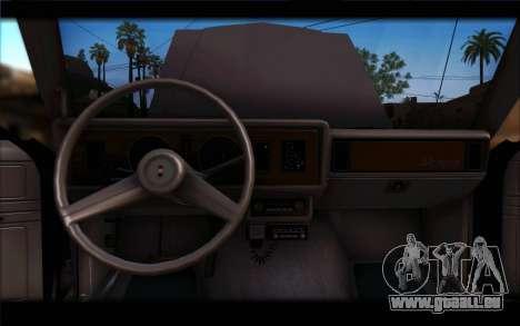 Ford Fairmont 1978 4dr Police für GTA San Andreas Rückansicht