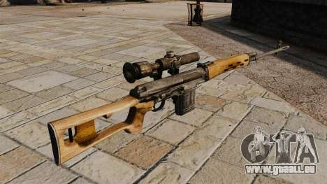 Fusil de précision Dragunov pour GTA 4 secondes d'écran