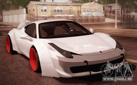 Ferrari 458 Italia Liberty Walk LB Performance pour GTA San Andreas