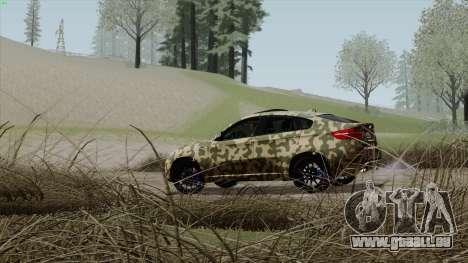 BMW X6M für GTA San Andreas Unteransicht