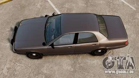 GTA V Unmarked Cruiser Police für GTA 4 rechte Ansicht