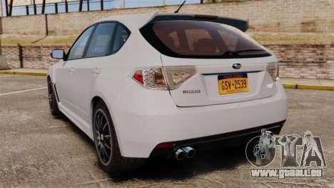 Subaru Impreza Cosworth STI CS400 2010 für GTA 4 hinten links Ansicht
