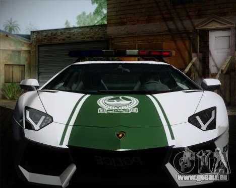 Lamborghini Aventador LP700-4 2012 RCPD V1.0 für GTA San Andreas Innenansicht