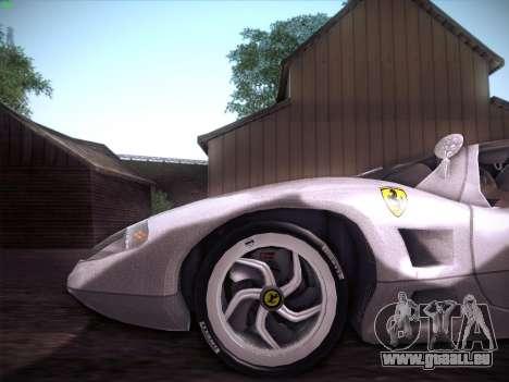 Ferrari P7 Chromo pour GTA San Andreas vue intérieure