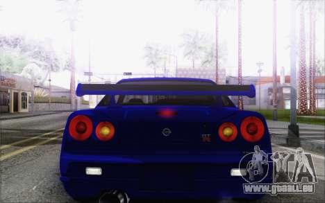 Nissan Skyline GT-R34 pour GTA San Andreas vue de côté