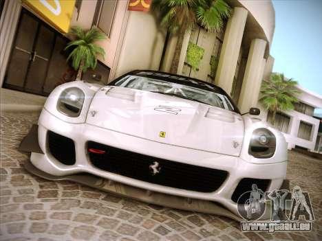Ferrari 599XX 2012 für GTA San Andreas Unteransicht