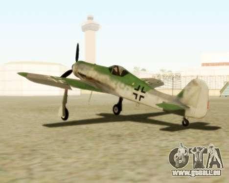 Focke-Wulf FW-190 D12 pour GTA San Andreas laissé vue