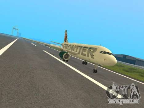 Airbus A319-111 Frontier Airlines Red Foxy für GTA San Andreas linke Ansicht
