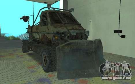 Gazelle aus der Metro 2033 für GTA San Andreas zurück linke Ansicht
