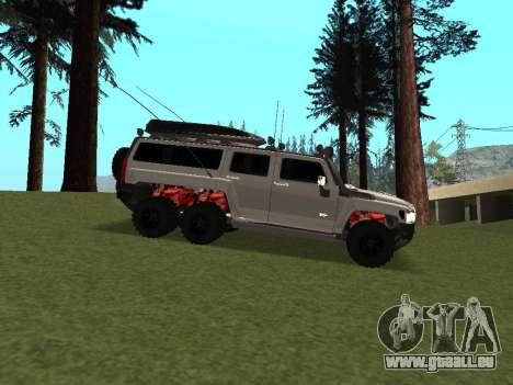 Hummer H3 6x6 pour GTA San Andreas vue arrière