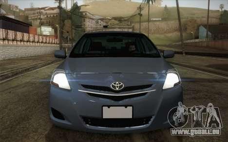 Toyota Vios 2008 pour GTA San Andreas vue de droite