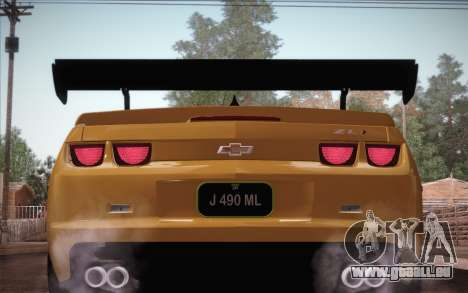 Chevrolet Camaro ZL1 pour GTA San Andreas moteur