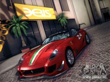 Ferrari 599XX 2012 für GTA San Andreas Innenansicht