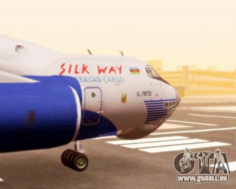 Il-76td Silk Way für GTA San Andreas Rückansicht
