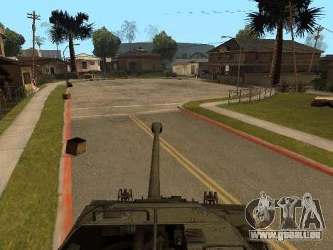 M18-Hellcat für GTA San Andreas Innenansicht