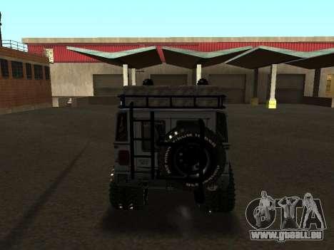 Hummer H1 Offroad pour GTA San Andreas vue de droite