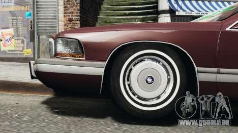 Buick Roadmaster 1996 pour GTA 4 Vue arrière de la gauche
