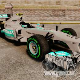 Mercedes AMG F1 W04 v4 für GTA 4