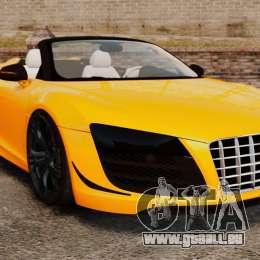 Audi R8 GT Spyder für GTA 4