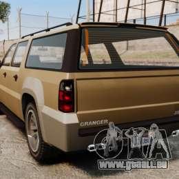 GTA V Declasse Granger 3500LX pour GTA 4 Vue arrière de la gauche