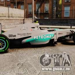 Mercedes AMG F1 W04 v4 pour GTA 4 est une gauche