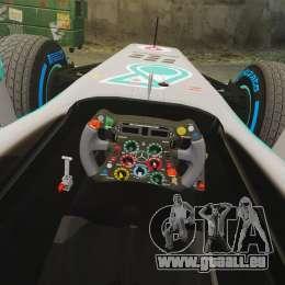 Mercedes AMG F1 W04 v4 pour GTA 4 est une vue de l'intérieur