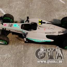 Mercedes AMG F1 W04 v4 für GTA 4 rechte Ansicht