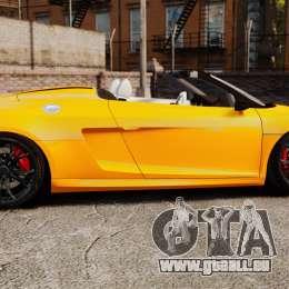 Audi R8 GT Spyder pour GTA 4 est une gauche