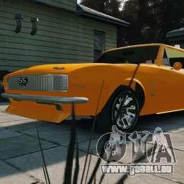 Chevrolet Camaro SS 1967 pour GTA 4 Vue arrière de la gauche