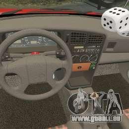 Volkswagen Passat B3 1995 pour GTA 4 vue de dessus