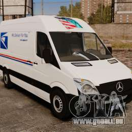 Mercedes-Benz Sprinter US Mail pour GTA 4