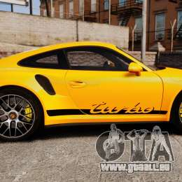 Porsche 911 Turbo 2014 [EPM] Turbo Side Stripes für GTA 4 linke Ansicht