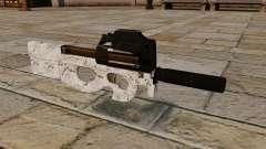 P90 Maschinenpistole Arktis Camo