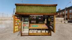 Nouveaux produits dans le kiosque de café