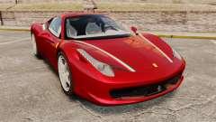 Ferrari 458 Italia 2010 Novitec pour GTA 4