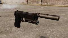 Pistolet semi-automatique Beretta 92 avec silenc