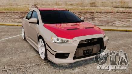 Mitsubishi Lancer Evolution X GSR 2008 pour GTA 4