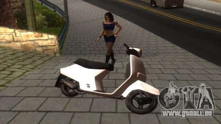 Honda Tact AF-16 WHITE pour GTA San Andreas