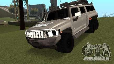 Hummer H3 6x6 für GTA San Andreas